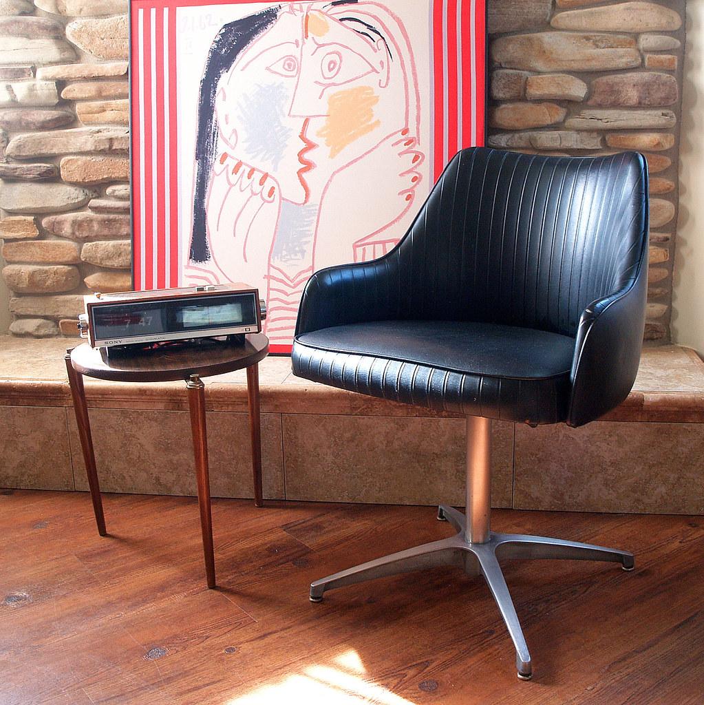 Groovy 60S Mod Mid Century Modern Chair Chromcraft Black Faux Lea Machost Co Dining Chair Design Ideas Machostcouk