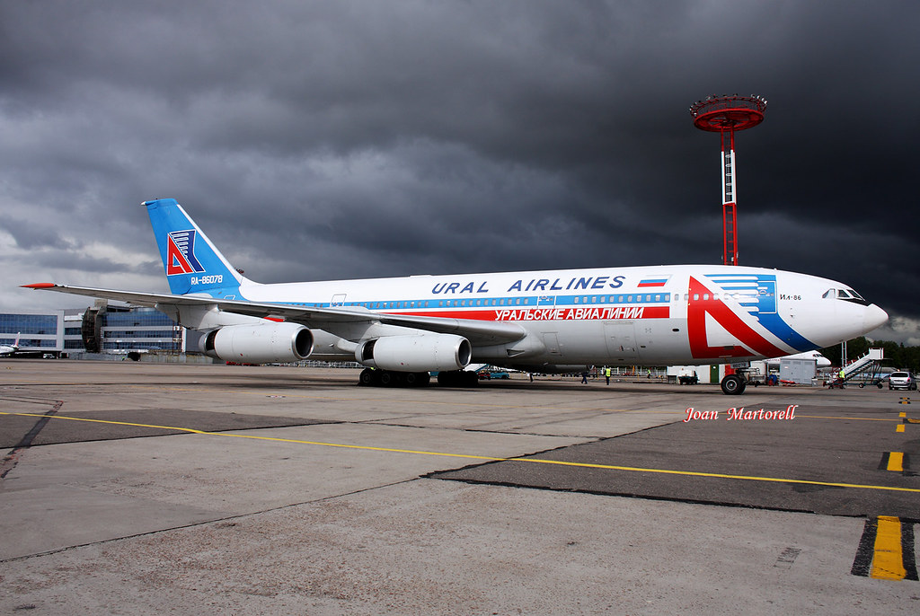 Ural Airlines RA-86078 Ilyushin Il-86 DME 08-2009