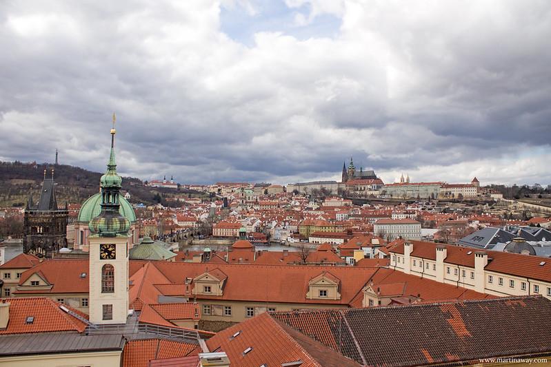 Praga vista dal Klementinum, Staré Město