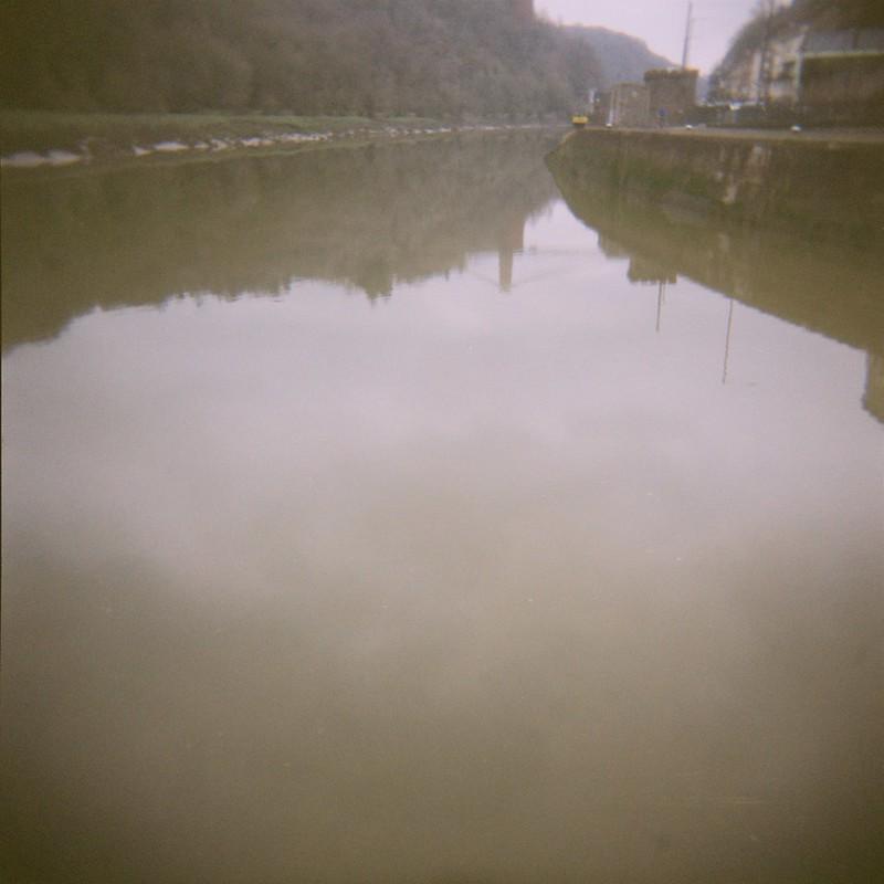 Avon reflections, dreich day