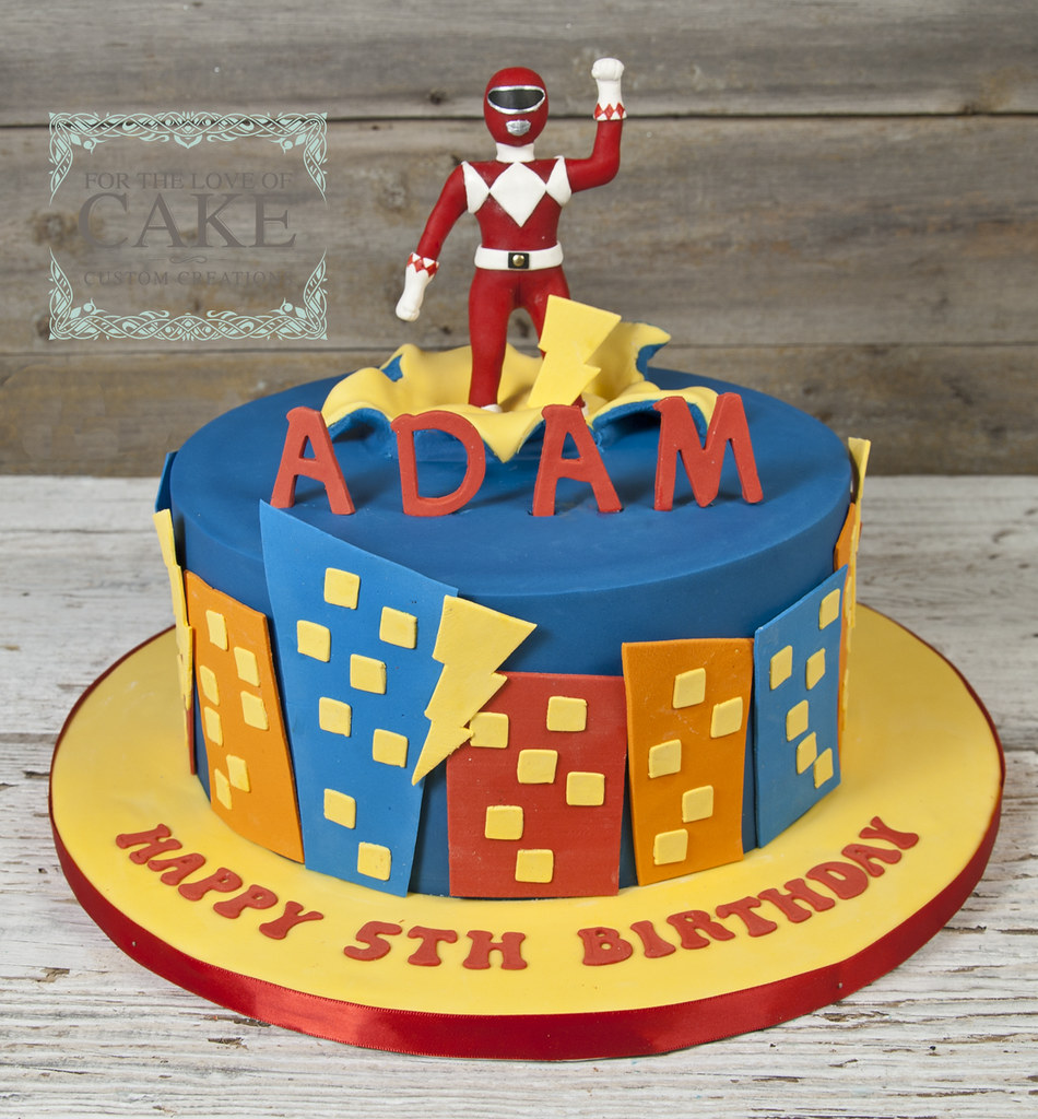 Pleasing Bc4722 Red Power Ranger Birthday Cake Toronto For The Love Of Funny Birthday Cards Online Inifodamsfinfo