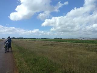 Somewhere near Babiney village: Giant irrigation wheel