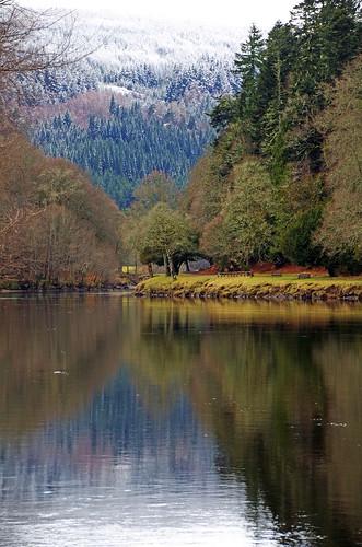 ericrobbniven scotland dunkeld winterspring rivertay landscape trees