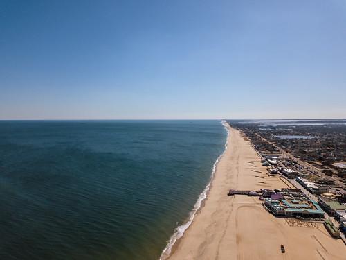 pointpleasant aerialphotography drone landscape boardwalk sand water beach newjersey ocean aerial pointpleasantbeach dronephotography jenkinsonsboardwalk unitedstates us