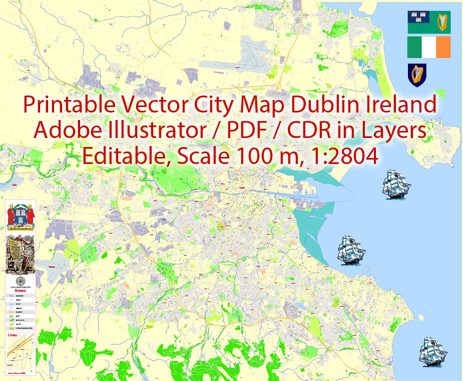 Dublin City Map Printable on