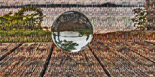abstract landscape selfportrait globe sphere crystal lakelanier mosaic time combine surreal examine composition scenery canon 70d eos project creative composite