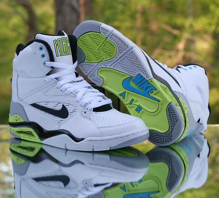 official photos d82e0 51a3a ... Nike Air Command Force Billy Hoyle White Wolf Grey Volt Black  684715-102 Men s Size