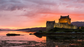 Eilean Donan at sunset   by AnnieMacD