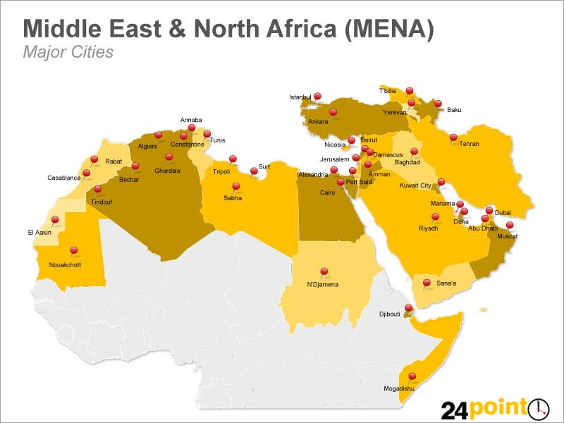 MENA Map   A map of Middle East and North Africa (MENA) show…   Flickr