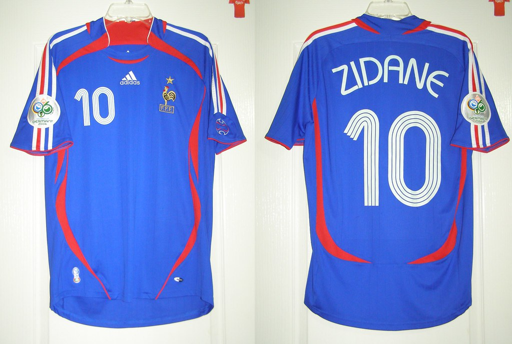 official photos d0087 102a7 France 2006 Home. 2006 World Cup Germany. Zinedine Zidane ...