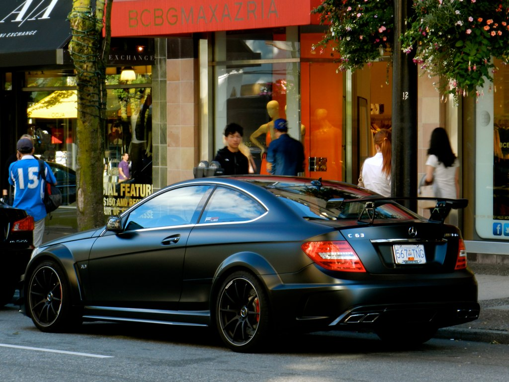 Mercedes Benz C63 Amg Black Series Is Painted Matte Black