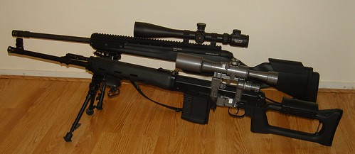 Izhmash TIGR and Steyr Mannlicher SSG 04 A1 Sniper Rifles