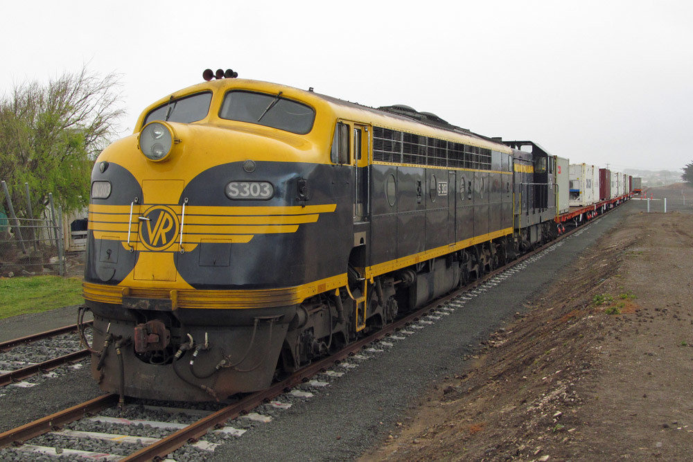 S303 & T357 at Warrnambool Container Yard by Corey Gibson