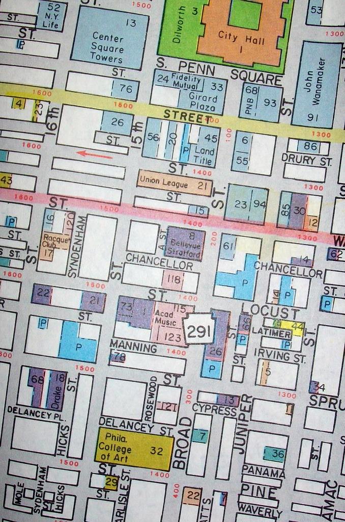 Downtown Philadelphia Map on