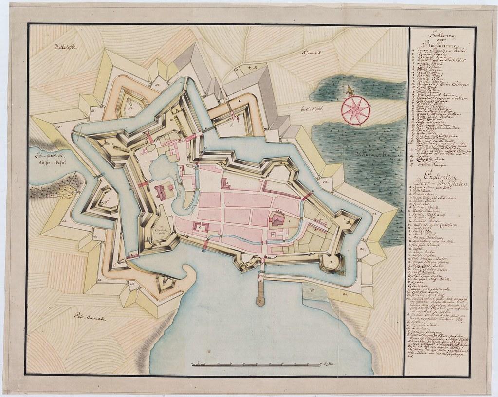 Kort Over Nyborg Slot Ca 1750 A Photo On Flickriver