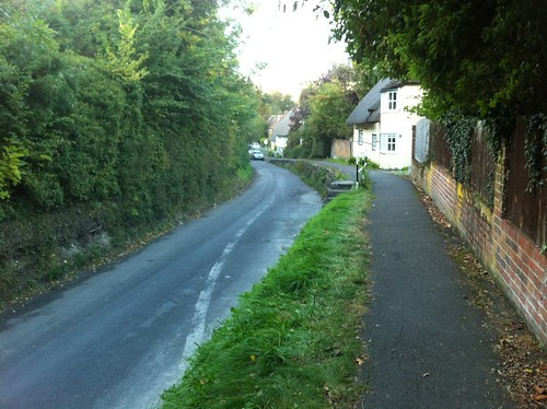 High footpaths in Letcombe   by Adrian Hollister