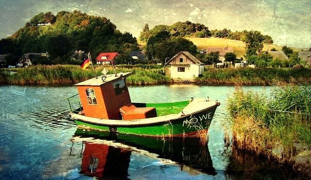 Rügen, Boot in Baabe , 58-107/1533
