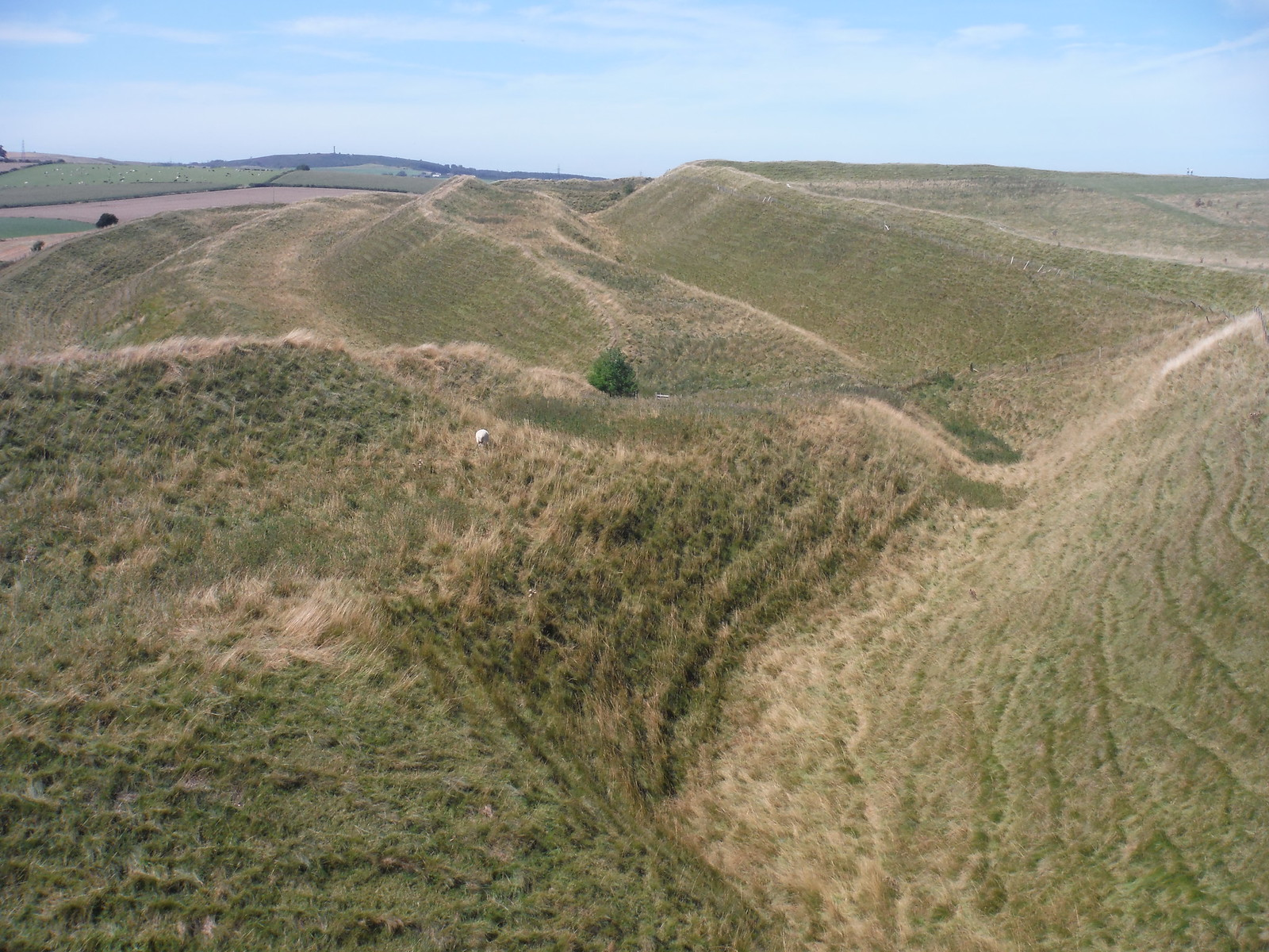 Maiden Castle - Southerly Ramparts SWC Walk 275 Dorchester South Circular or to Portesham