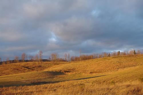 blue light sunset orange rural fence evening colorful glow bright farm country meadow farmland pasture westvirginia