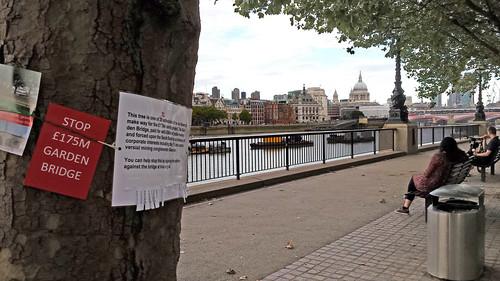 Garden Bridge protest