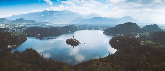 Perfect moment at Lake Bled