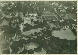 1928 aerial shot of Pomona College