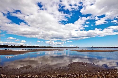 sky clouds harbour lakeontario waterfowl mudflats shorebirds cobourg