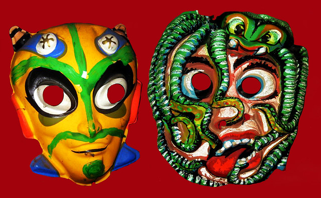 Space Aliens and Vampire Octopus Attack Masks 6263