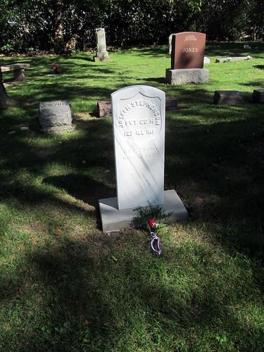 Civil War veteran Joseph Stephenson's Grave   by IndianPrairie