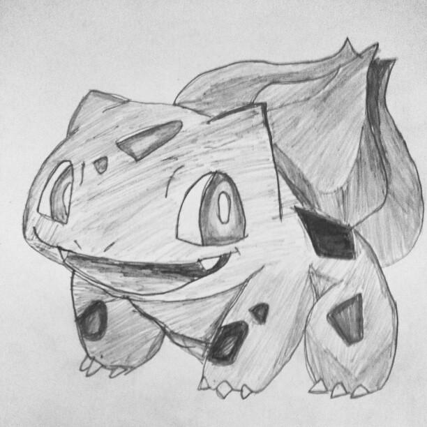 Nice Beautiful Bulbasaur Grayscale Sketch Pencil Dr