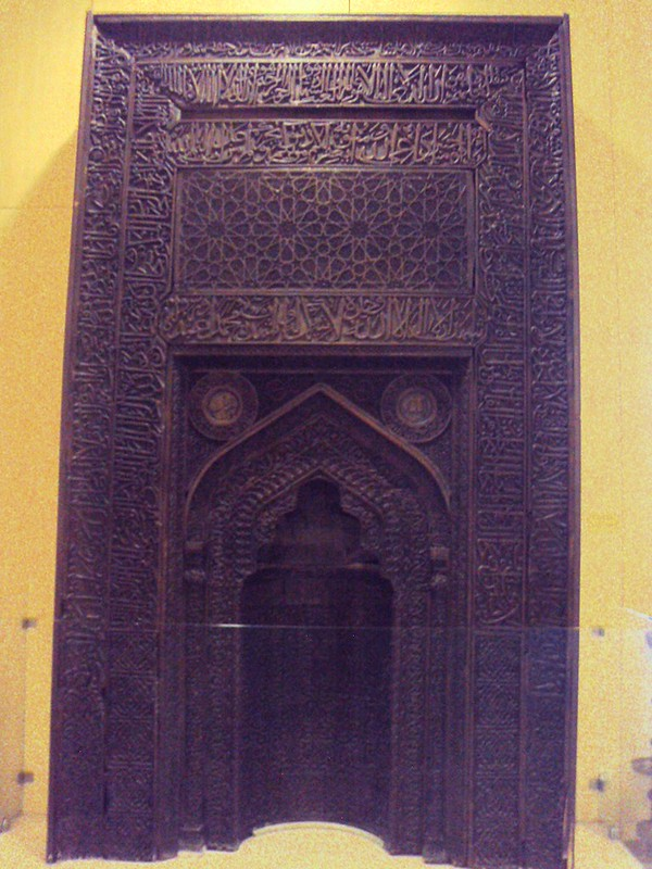 This is the only photo I have from inside Ankara's Ethnographic Museum; it's a stunning wooden piece (the mihrab) from a mosque in Ürgüp, Nevşehir by bryandkeith on flickr