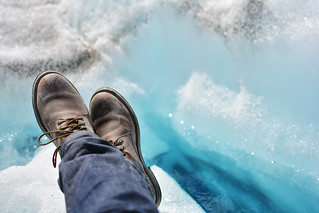 Oak Street Trench Boots on Worthington Glacier, Alaska | by Paxson Woelber