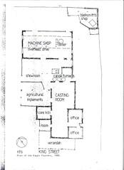 Eagle Foundry floor plan, 1980