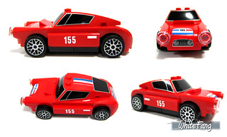 Different views of the 250 GT Berlinetta (with stickers applied)