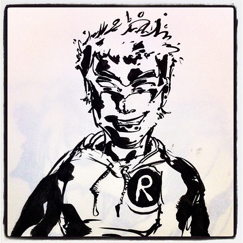 #sketch : little damian (ink) | by _toubab_