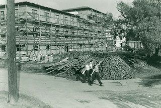 Construction of Mudd Hall in 1946