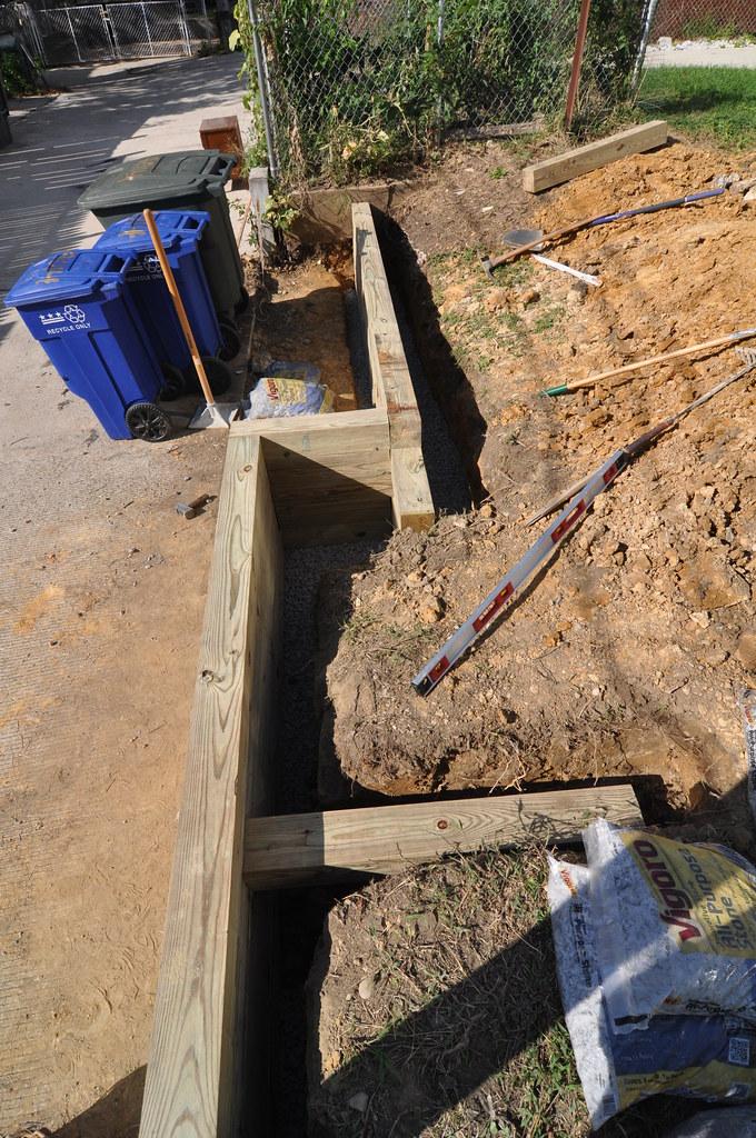 Retaining wall timbers laid deadman north   S. Davis   Flickr