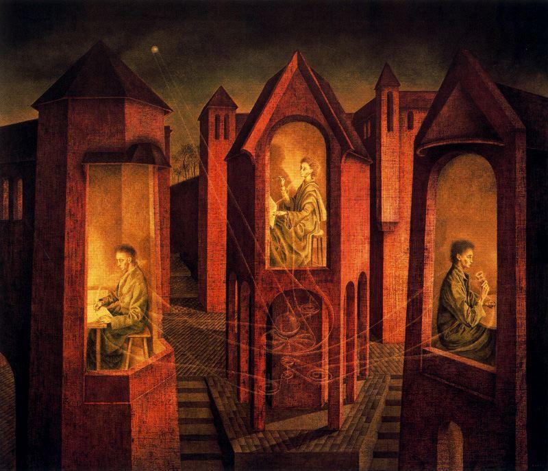 Varo, Remedios (1908-1963) - 1956 Three Destinies (Christi