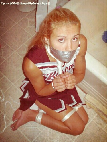 cheerleader tied up