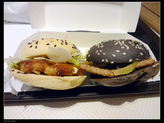 Mcdonalds Black(beef) and White(chicken) burgers