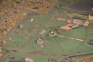 Queens Museum of Art | The Panorama of the City of New York | Flushing Meadows in Queens, including the Unisphere, the Queens Museum of Art (the New York Building), etc | by Chris Devers