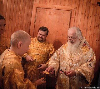 Божественная литургия в пос.Котово 190