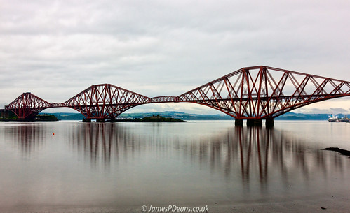 landscape gb reflection westlothian firthofforth sea southqueensferry unitedkingdom forthbridge scotland britain railwaybridge lothian railway estuary coast uk europe digital downloads for licence man who has everything prints sale james p deans photography
