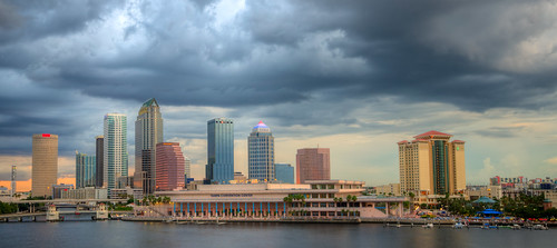 tampa florida skyline sunset city cityscape hdr storm stormy thunderstorm fla fl tampaflorida tampaskyline downtown urban unitedstates