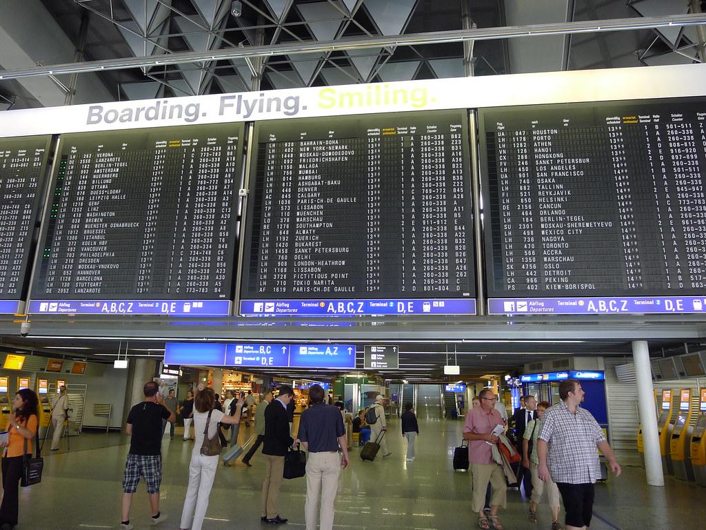 Flughafen Frankfurt Terminal 1 Abflug