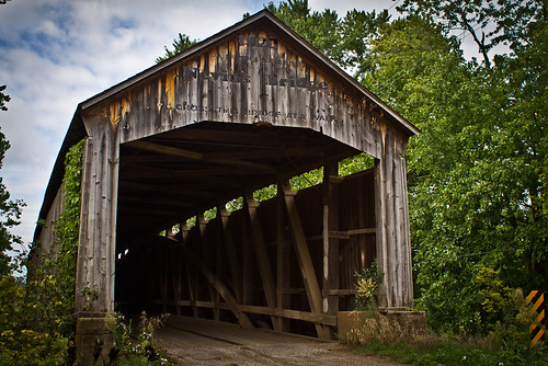 Nevins Bridge in Indiana - Covered bridge from 1920 | by Jacob Vann