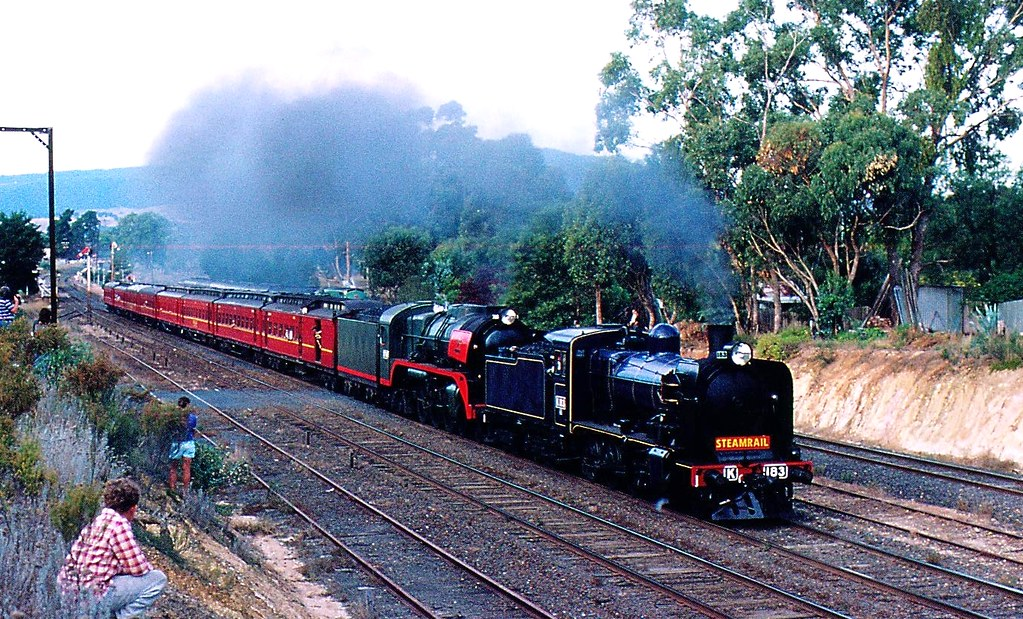 K183 and R766 on special passenger train by Rodney S300