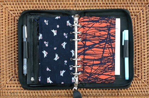 Travelling Handmade - Repurposing A Daytimer into a Sewing Kit