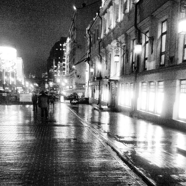Kamergersky Lane in rain