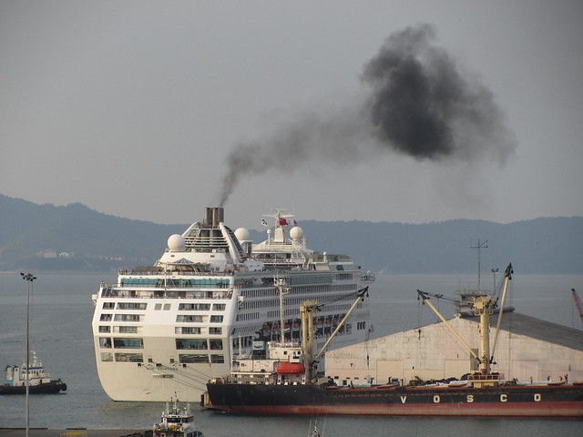 Thick Black Smoke From The Sun Princess